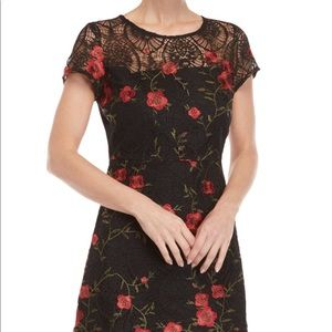 Lucy Paris Amanda Floral embroidered dress